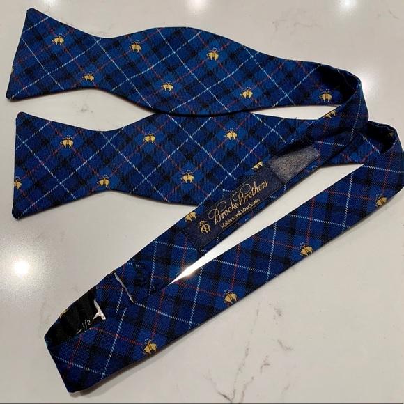 Brooks Brothers Other - Brooks Brothers Blue Plaid Logo Adjustable Tie